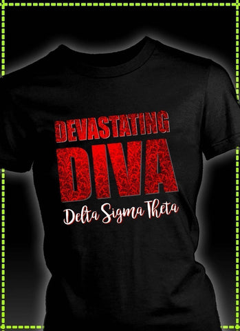 Delta Sigma Theta Tagline District Womens Shirt - Unique Greek Store