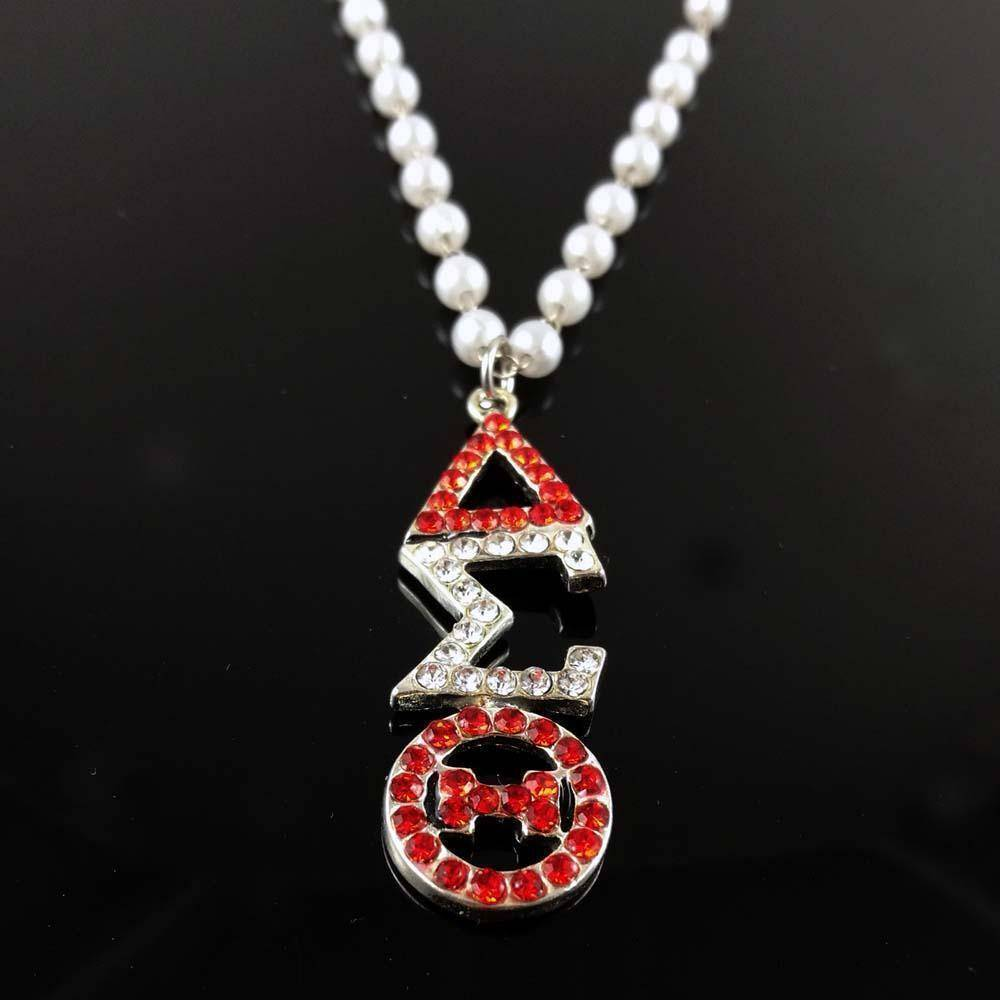 Delta Sigma Theta Necklace Jewelry Set - Unique Greek Store