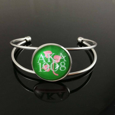 Image of Alpha Kappa Alpha Customized Bangle Jewelry - Unique Greek Store