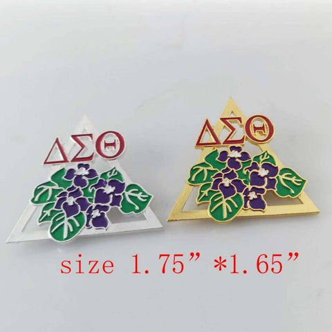 Delta Sigma Theta Purple Flower Brooch