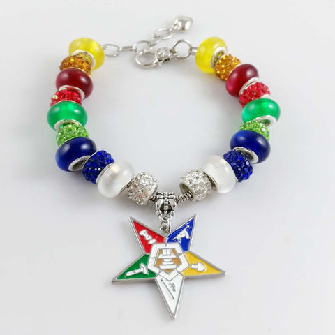 Image of Order of the Eastern Star Charm Jewelry Bracelet