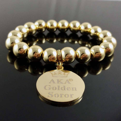 Alpha Kappa Alpha Golden Sorority Bracelet