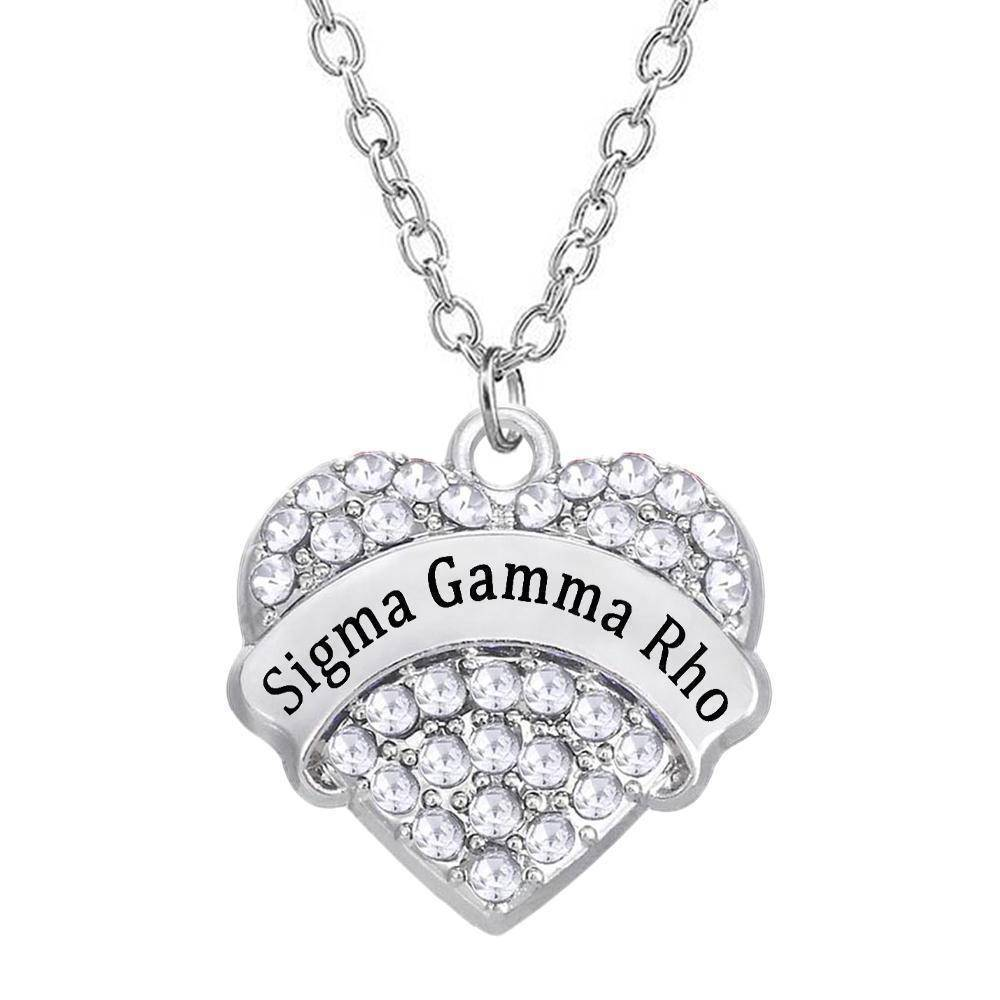 Sigma Gamma Rho Heart Shaped Necklace - Unique Greek Store