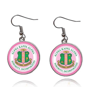 Alpha Kappa Alpha Pink Earrings - Unique Greek Store