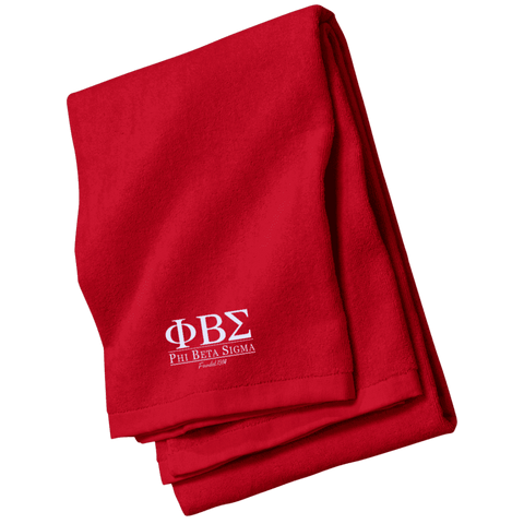 Image of Phi Beta Sigma Embroidered Beach Towel - Unique Greek Store