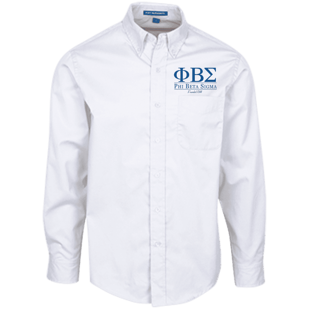Phi Beta Sigma Long Sleeve Dress Shirt - Unique Greek Store