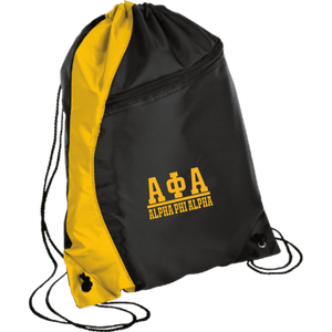 Alpha Phi Alpha Colorblock Cinch Pack - Unique Greek Store