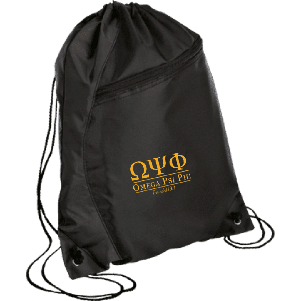 Omega Psi Phi Colorblock Cinch Pack - Unique Greek Store