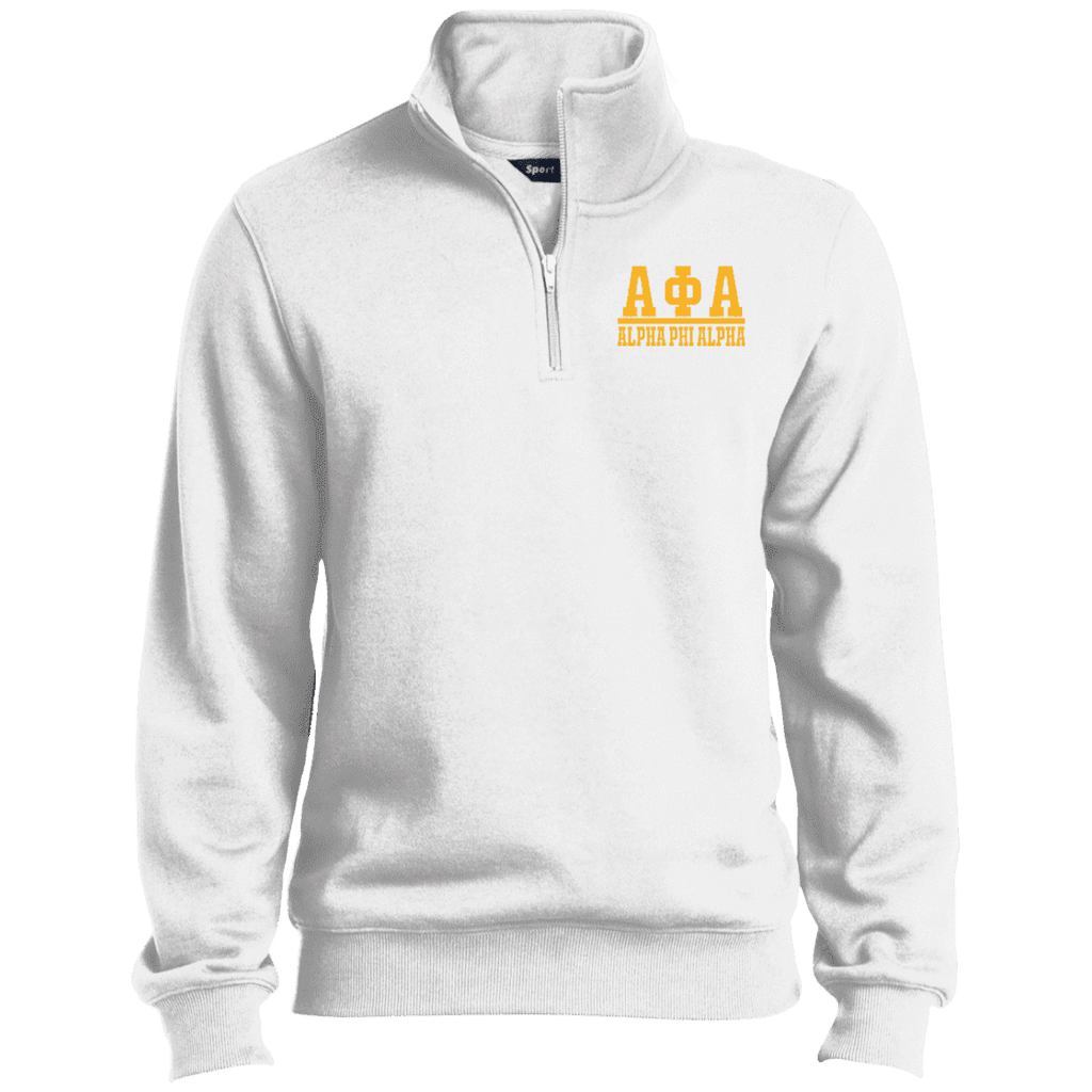 Alpha Phi Alpha Quarter-Zip Embroidered Sweatshirt - Unique Greek Store