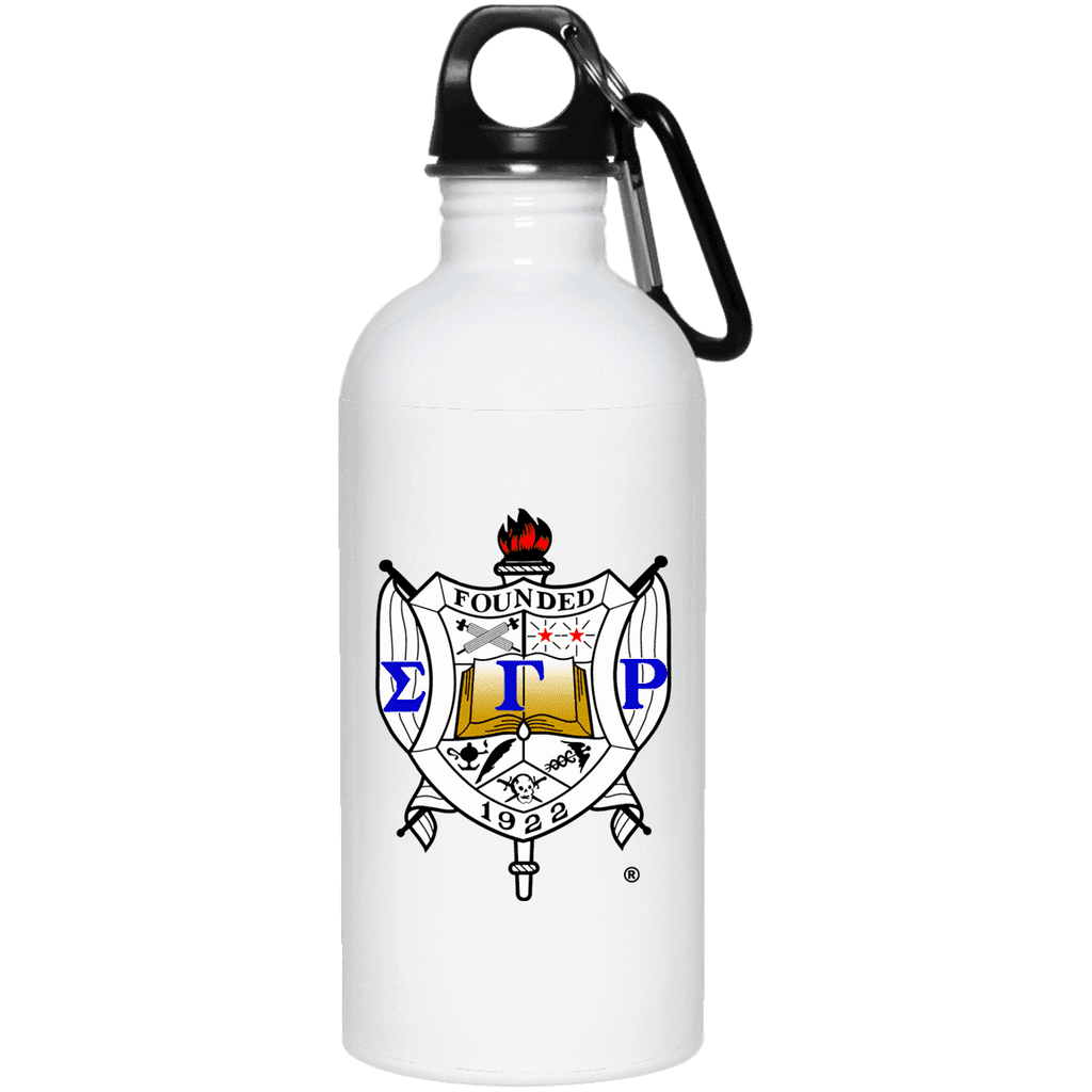 Sigma Gamma Rho 20 oz. Stainless Steel Water Bottle - Unique Greek Store