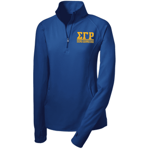 Sigma Gamma Rho Women's Half Zip Performance Pullover - Unique Greek Store