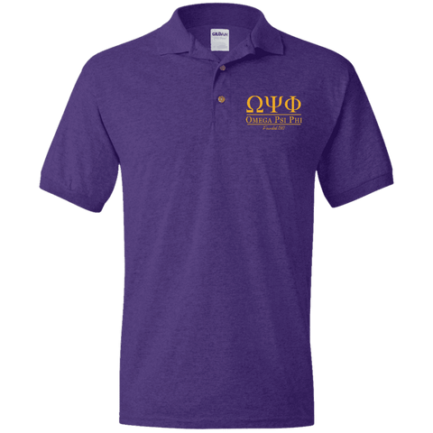 Omega Psi Phi Jersey Polo - Unique Greek Store