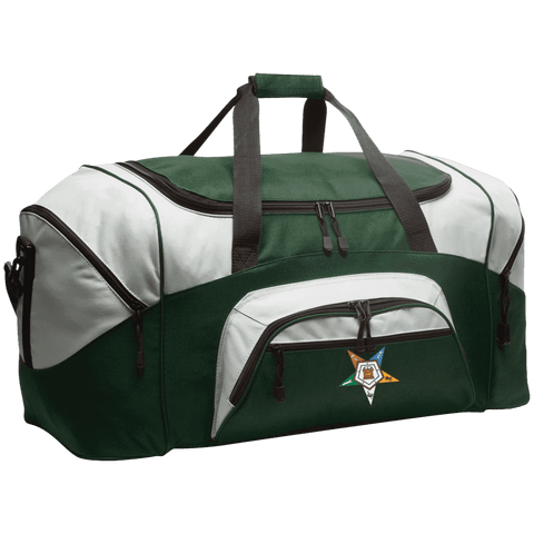 Image of Order Of The Eastern Star Colorblock Sport Duffel - Unique Greek Store