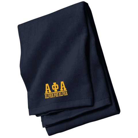 Image of Alpha Phi Alpha Beach Towel - Unique Greek Store