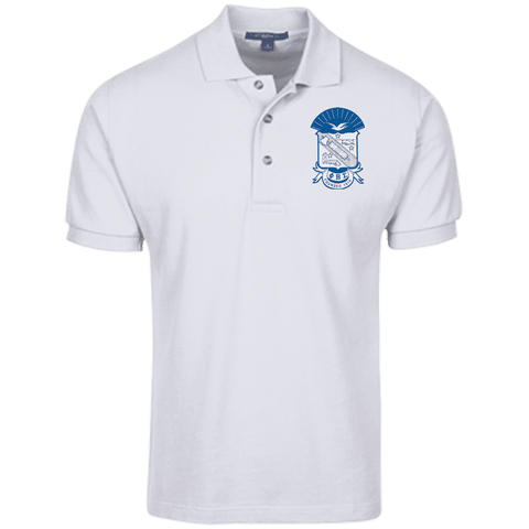 Phi Beta Sigma Cotton Pique Knit Polo - Unique Greek Store