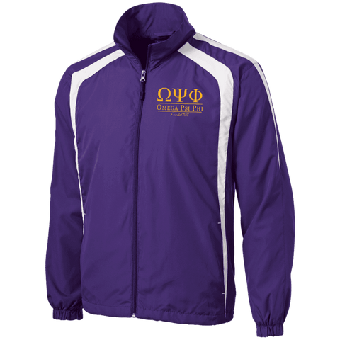 Image of Omega Psi Phi Tall Jersey-Lined Jacket - Unique Greek Store