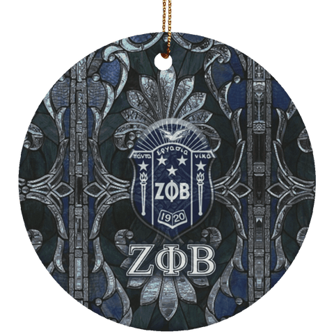 Image of Zeta Phi Beta Circle Ornament - Unique Greek Store