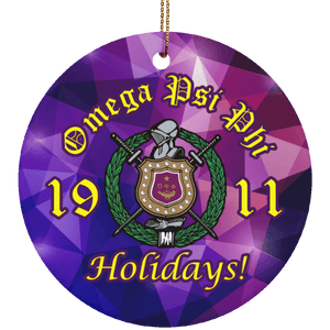 Omega Psi Phi Christmas Ornaments - Unique Greek Store