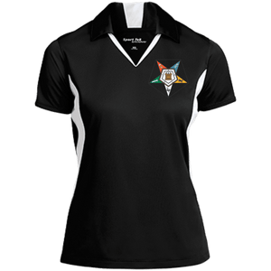 Order Of The Eastern Star Colorblock Performance Polo - Unique Greek Store