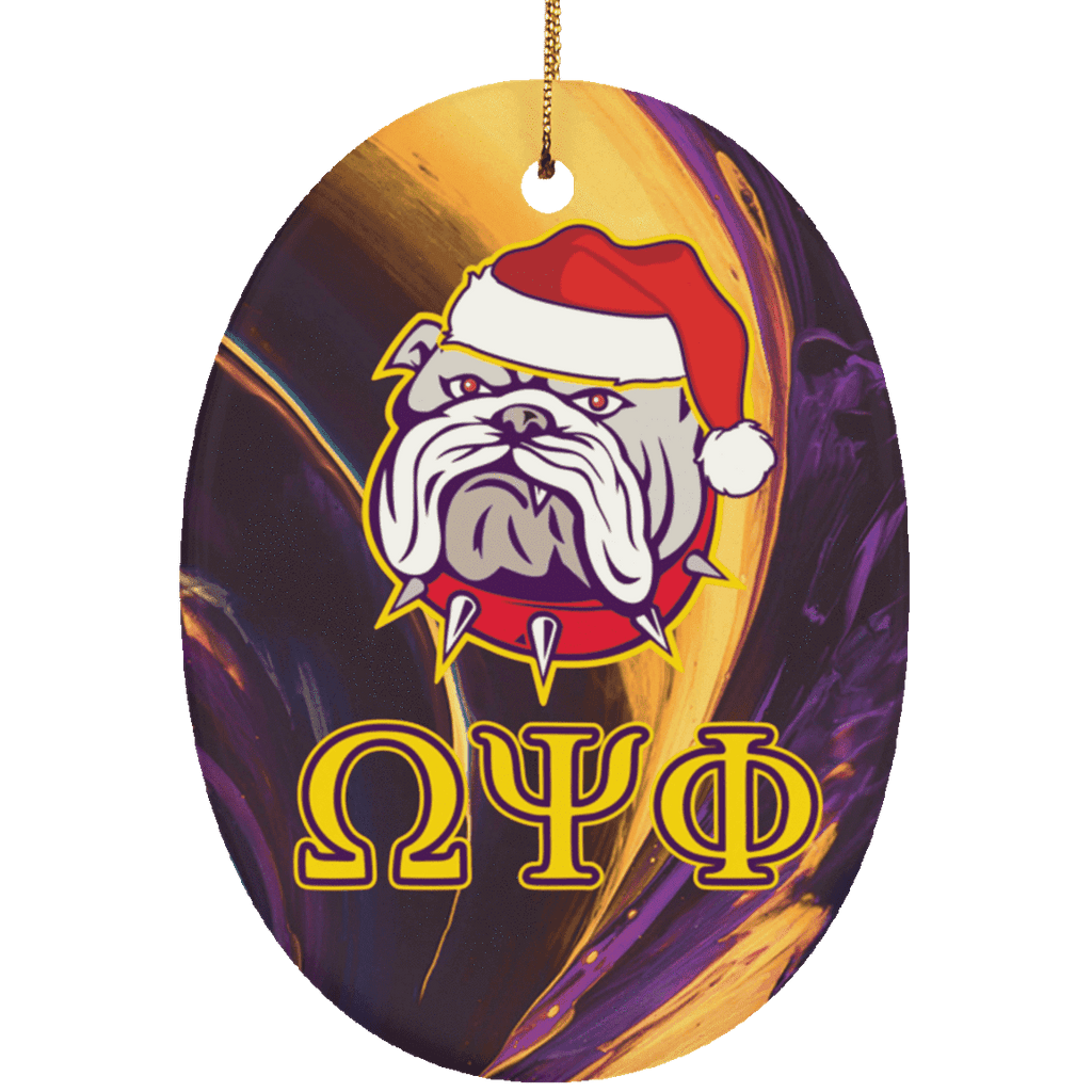 Omega Psi Phi Oval Ornaments - Unique Greek Store