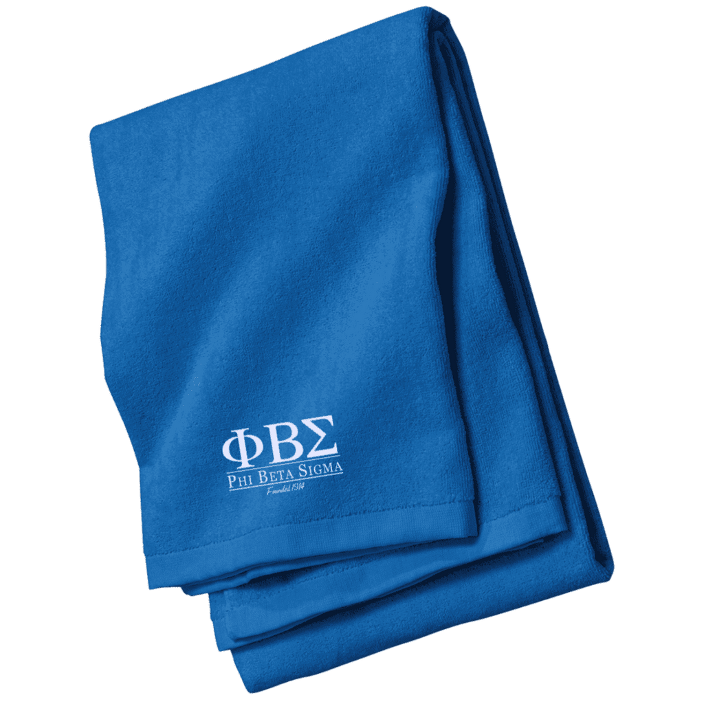 Phi Beta Sigma Embroidered Beach Towel - Unique Greek Store