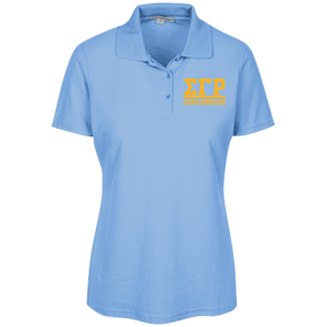 Sigma Gamma Rho Ladies Embroidered Stain Resistant Sport Shirt - Unique Greek Store