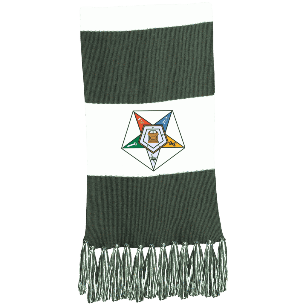 Order Of The Eastern Star Fringed Scarf - Unique Greek Store