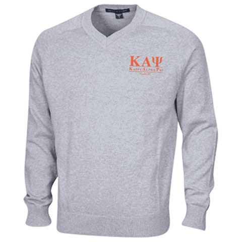 Image of Kappa Alpha Psi Embroidered V-Neck Sweater - Unique Greek Store