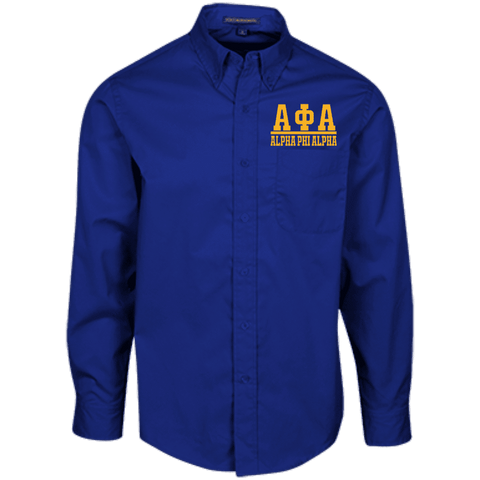 Image of Alpha Phi AlphaLong Sleeve Dress Shirt - Unique Greek Store