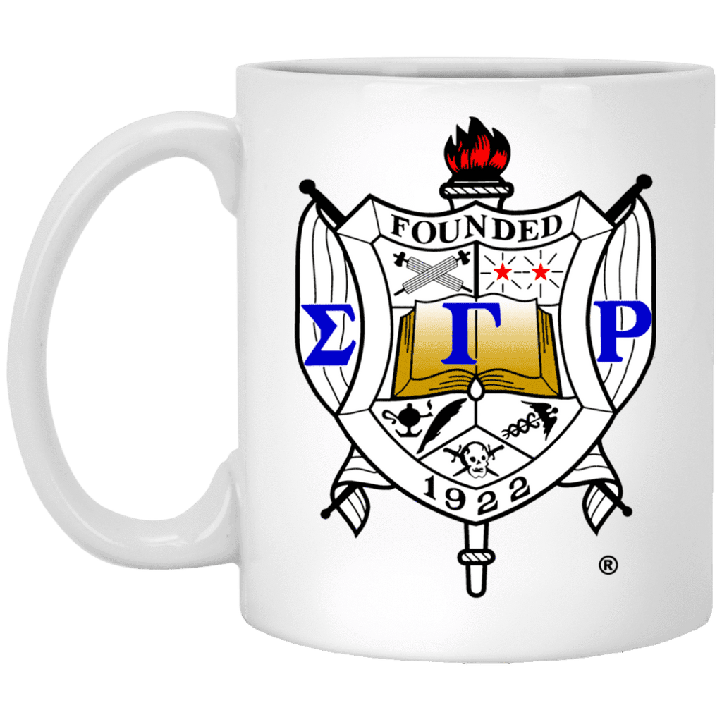 Sigma Gamma Rho 11 oz. White Mug - Unique Greek Store