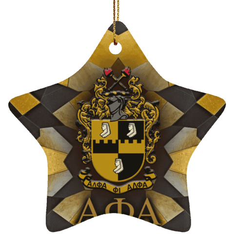 Image of Alpha Phi Alpha Star Ornament - Unique Greek Store
