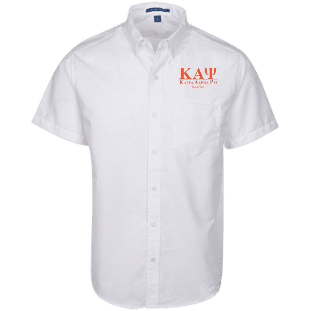 Kappa Alpha Psi Short Sleeve Oxford Shirt - Unique Greek Store