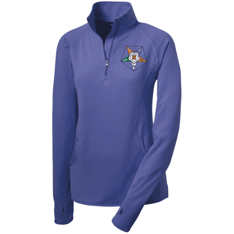 Image of Order Of The Eastern Star Half Zip Performance Pullover - Unique Greek Store