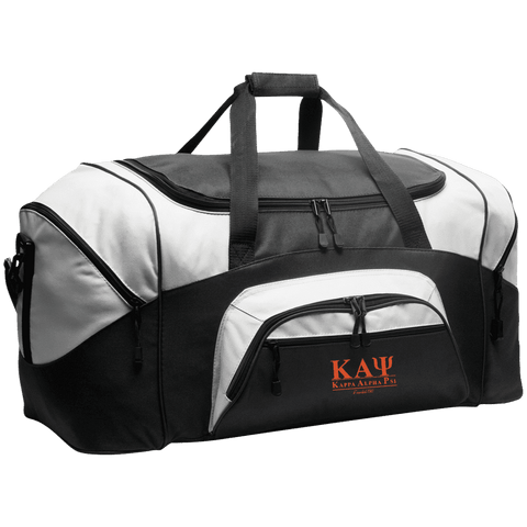 Kappa Alpha Psi  Colorblock Sport Duffel - Unique Greek Store