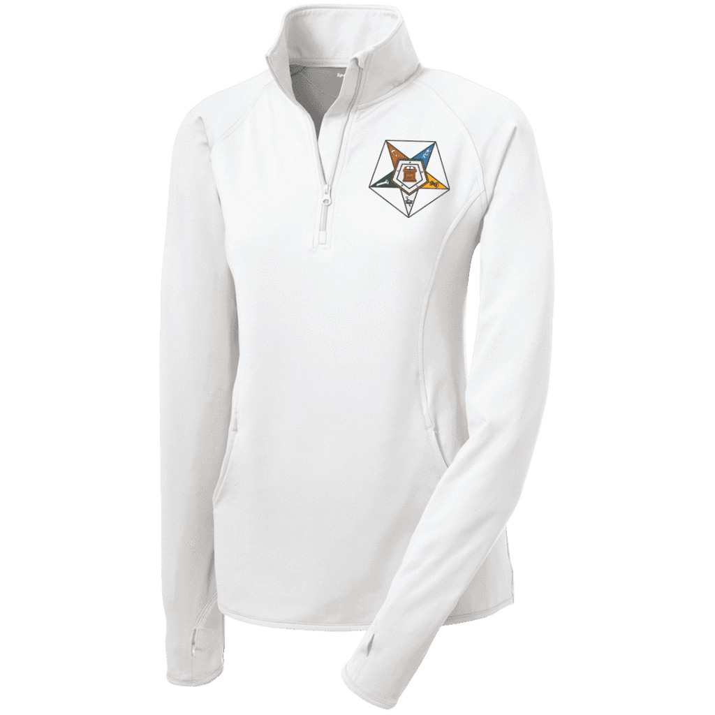 Order Of The Eastern Star Half Zip Performance Pullover - Unique Greek Store