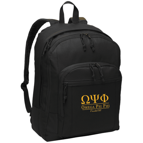 Image of Omega Psi Phi Basic Backpack - Unique Greek Store