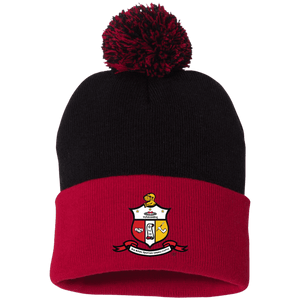 Kappa Alpha Psi Pom Pom Knit Cap - Unique Greek Store