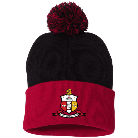 Image of Kappa Alpha Psi Pom Pom Knit Cap - Unique Greek Store