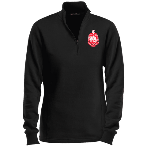 Image of Delta Sigma Theta Ladies' 1/4 Zip Sweatshirt - Unique Greek Store