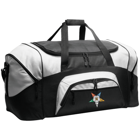 Order Of The Eastern Star Colorblock Sport Duffel - Unique Greek Store