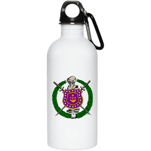 Omega Psi Phi 20 oz. Stainless Steel Water Bottle - Unique Greek Store