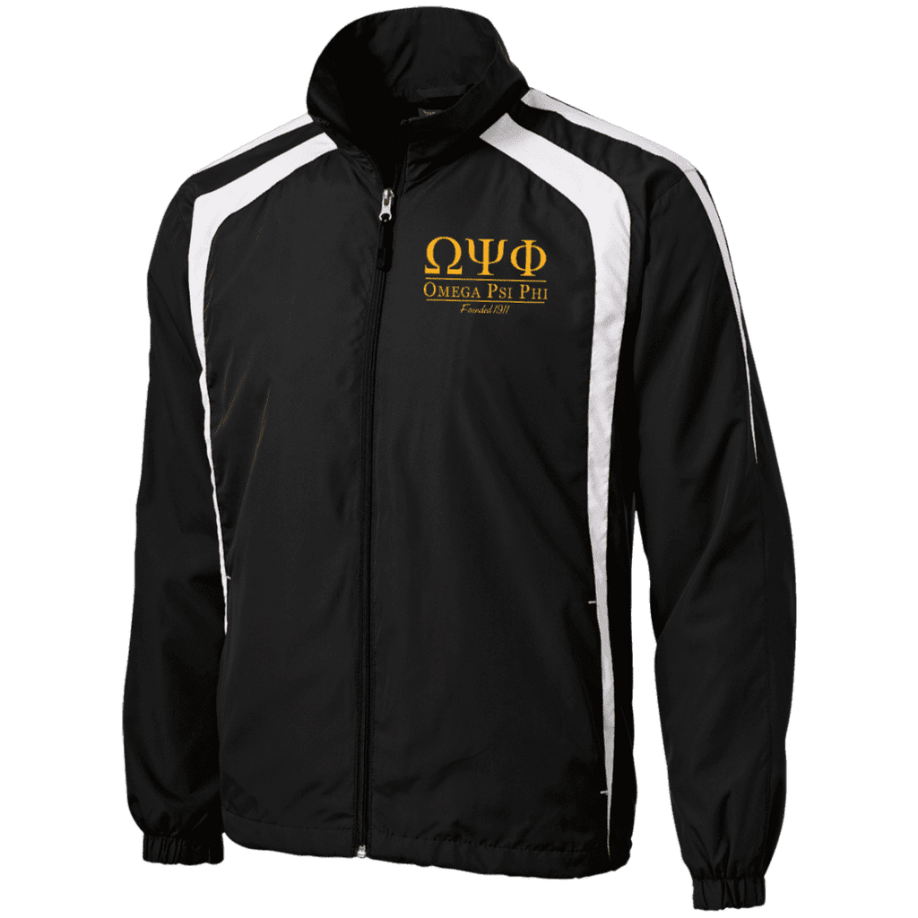 Omega Psi Phi Tall Jersey-Lined Jacket - Unique Greek Store