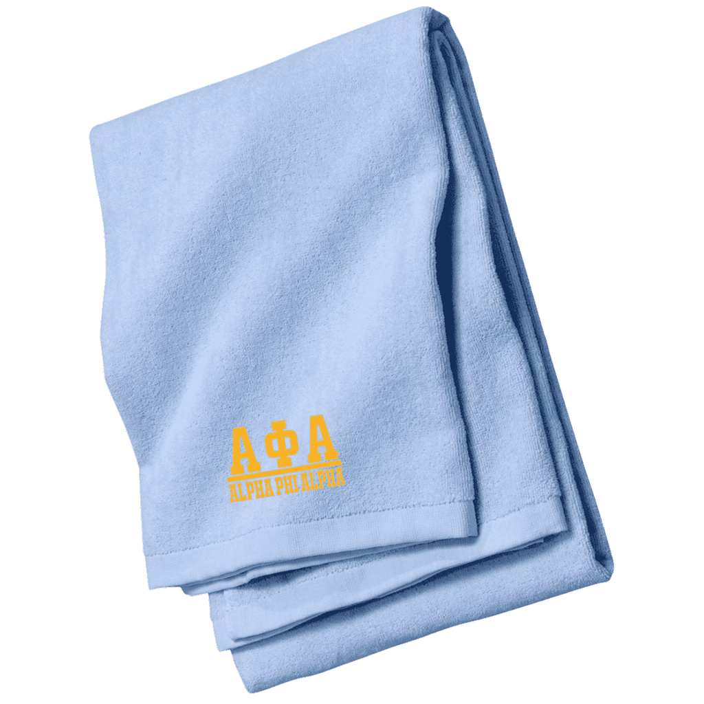Alpha Phi Alpha Beach Towel - Unique Greek Store