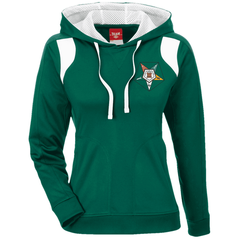 Image of Order Of The Eastern Star Colorblock Poly Hoodie - Unique Greek Store