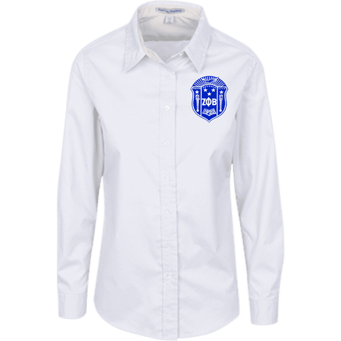 Zeta Phi Beta LS Blouse - Unique Greek Store