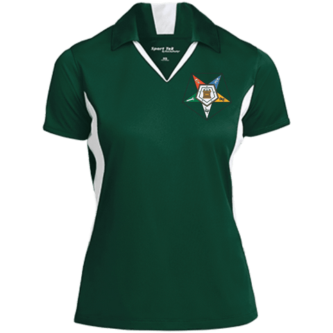 Image of Order Of The Eastern Star Colorblock Performance Polo - Unique Greek Store