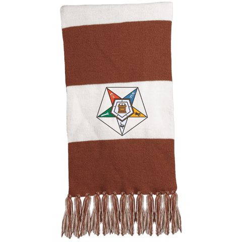 Image of Order Of The Eastern Star Fringed Scarf - Unique Greek Store