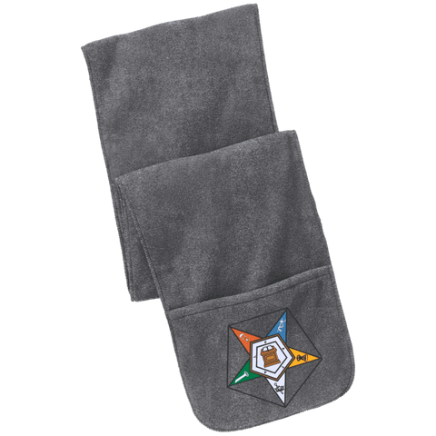 Image of Order Of The Eastern Star Fleece Scarf with Pockets - Unique Greek Store