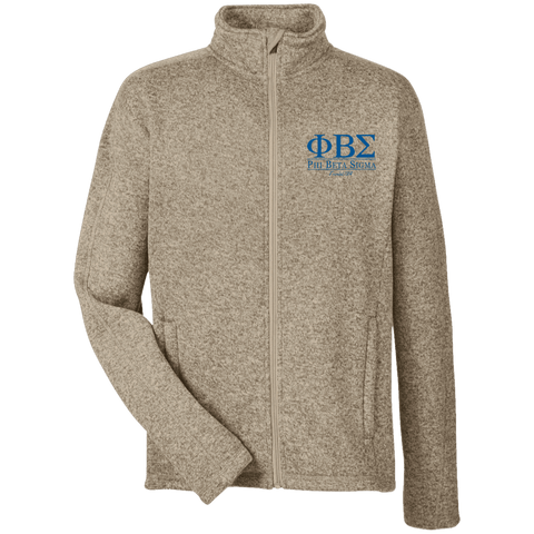 Phi Beta Sigma Men's Full Zip Sweater Fleece - Unique Greek Store