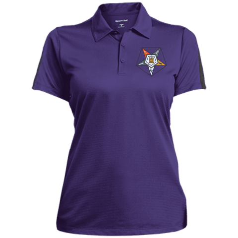 Image of Order Of The Eastern Star Performance Textured Three-Button Polo - Unique Greek Store